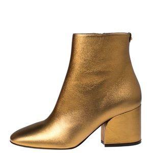 Salvatore Ferragamo golden leather Booties